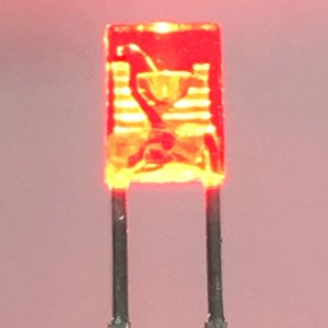 3mm Square Shape LED w/ Built-in Resistor Red (20 Pieces) (Model Train)