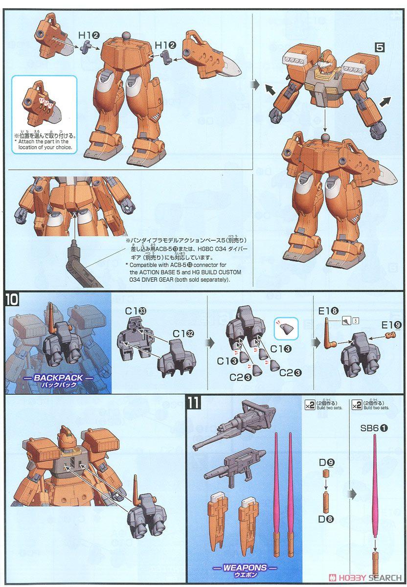 GM III Beam Master (HGBD) (Gundam Model Kits) Assembly guide5