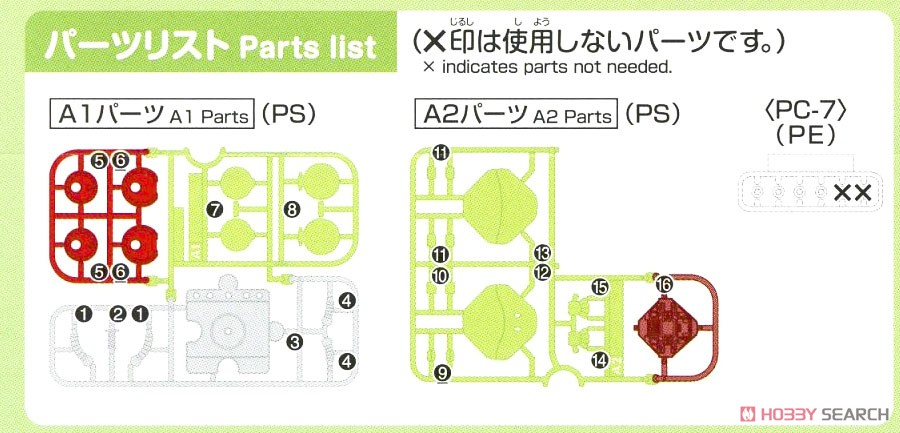 Haropla Haro Basic Green (Gundam Model Kits) Assembly guide3