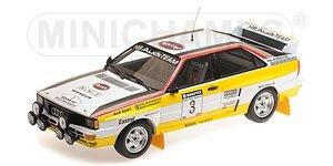 アウディ クワトロ A2 `AUDI SPORT` #3 サンヨー ニュージーランド ラリー 1984 ウィナーズ (ミニカー)