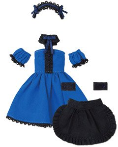 Cafe Maid Set (Blue x Black) (Fashion Doll)