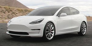 Tesla Model 3 2018 White Cast Car