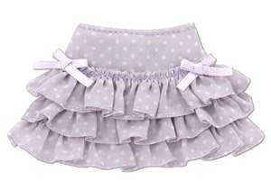 PNS Sugar Dream Osatou Ribbon Frill Skirt (Lavender x White) (Fashion Doll)