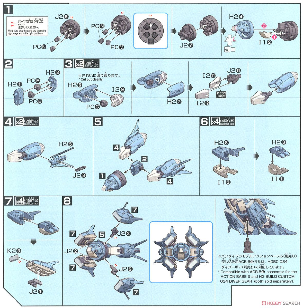 Ptolemaios Arms (HGBC) (Gundam Model Kits) Assembly guide1