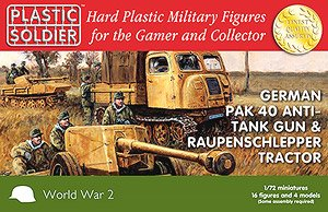 German Pak 40 and Raupenschlepper Tractor (Plastic model)