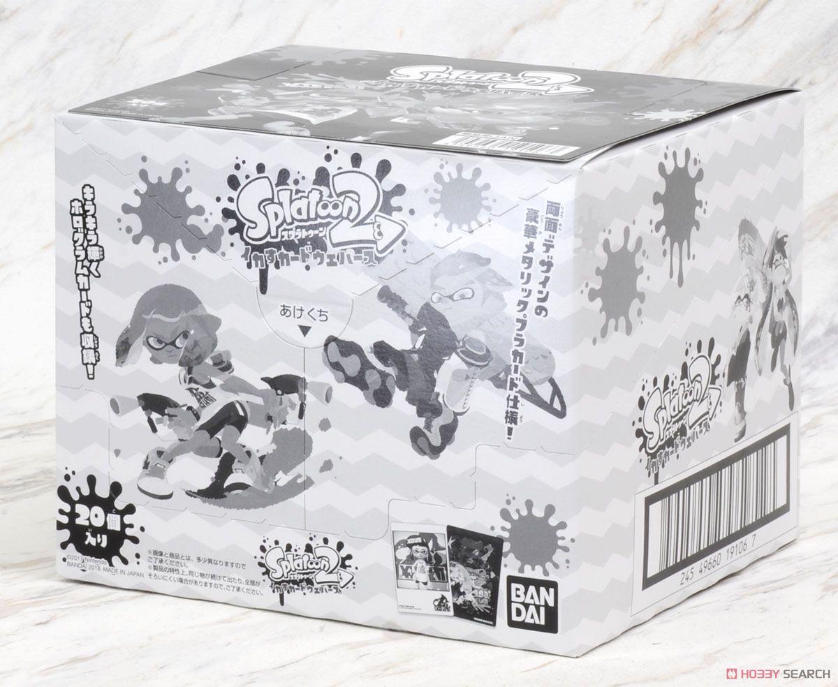 Splatoon 2 Ikasu Card Wafer (Set of 20) (Shokugan) Images List