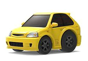 TinyQ Honda Civic EK9 Yellow/Black Wheel (Choro-Q)