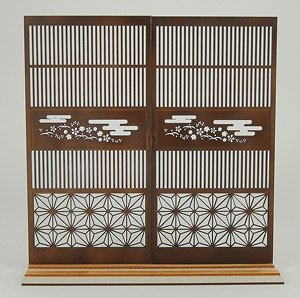 1/12 Lattice Door with Japanese Pattern 2 (Fashion Doll)