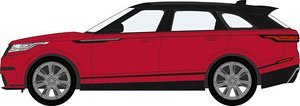 (OO) Range Rover Velar Firenze Red (Model Train)