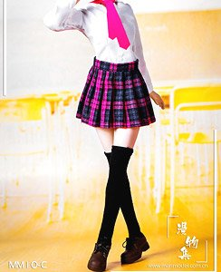 Manmodel 1/6 High School Girl Uniform Set Pink Plaid (Fashion Doll)