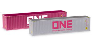 (HO) Container-Set 2x40 ft. `ONE/ONE` (Model Train)
