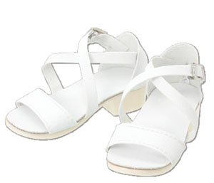 50 Cross Strap Sandal (White) (Fashion Doll)