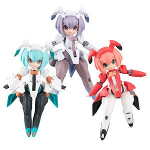 Desktop Army F-606s Frea Nabbit Sisters (Set of 3) (PVC Figure)