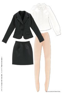 AZO2 Ladies Suit Set (Charcoal Gray) (Fashion Doll)