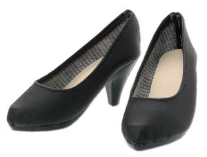 50 Plain Toe Pumps (Black) (Fashion Doll)