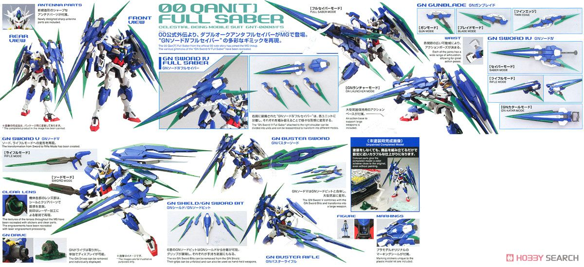 00 QAN[T] Full Saber (MG) (Gundam Model Kits) Other picture2