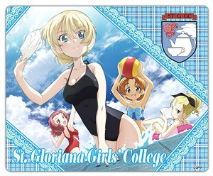 Girls und Panzer das Finale Mouse Pad St. Gloriana Girls` College [Playing in the Water] (Anime Toy)