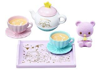 No.6 Re-ment Little Twin Stars Dolly Room Tea Party Tea Set