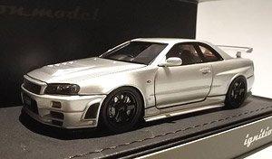 1//64 Kyosho NISSAN SKYLINE NISMO R34 GT-R Z-TUNE SILVER diecast car model