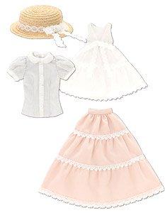 PNM Early summer ドレスセット グレーストライプ×ピンク (ドール)