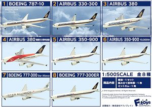 Airline in the World Singapore Airlines (Plastic model)