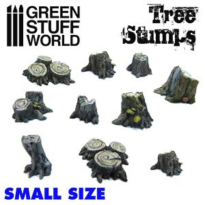Small Tree Stumps (10 Pieces) (Plastic model)