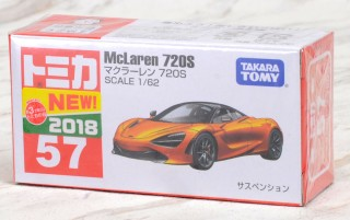 TOMICA 57 McLaren 720S 1//62 2018 DEC NEW TOMY First edition