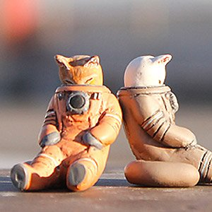 Space-Suited Cat `netanpopo` (Uncolored Kit) (Plastic model)