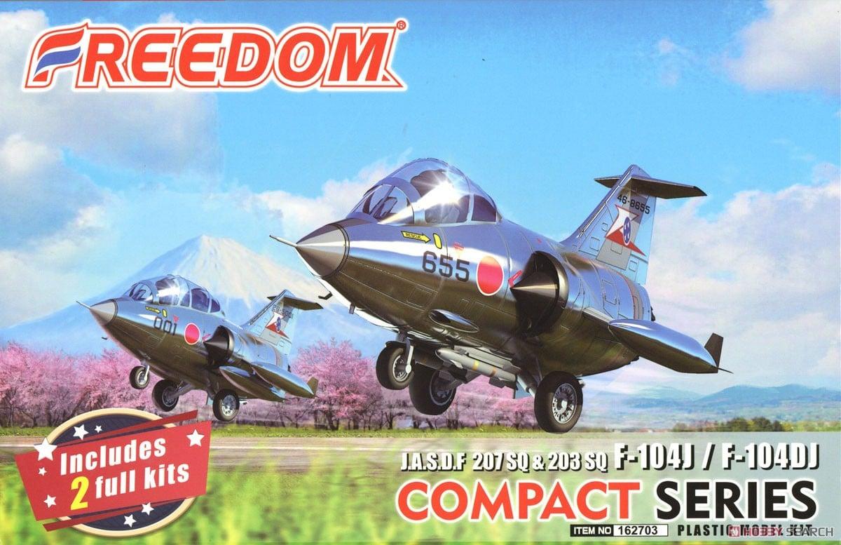 Compact Series: J.A.S.D.F 207 SQ & 203SQ Star Fihgter F-104J & F-104DJ (Plastic model) Package1