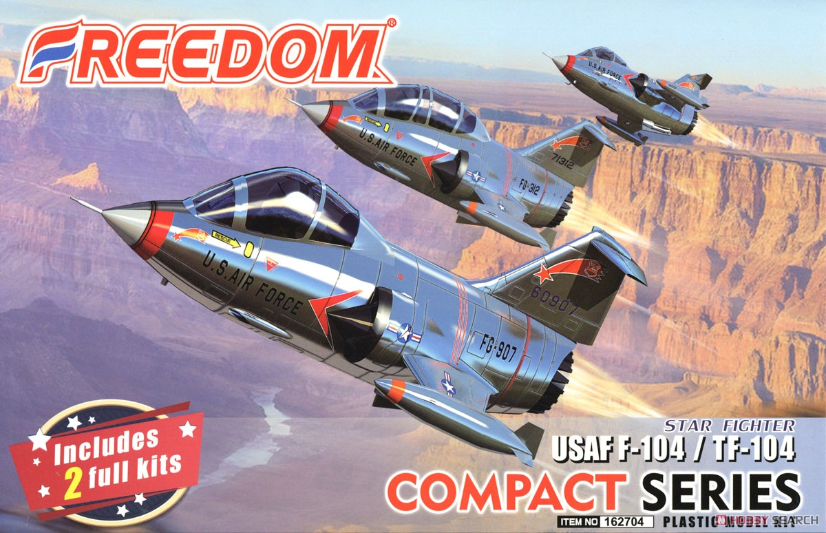 Compact Series: USAF Star Fihgter F-104 & TF-104 (Plastic model) Package1