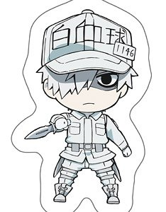 Cells At Work Die Cut Cushion White Blood Cell Anime Toy
