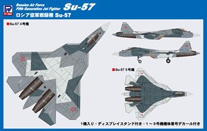 Russian Air Force Fifth Generation Jat Fighter Su-57 (Plastic model)