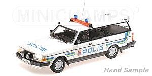 ボルボ 240 GL ブレーク 1986 `POLIS SWEDEN` スウェーデン警察 (ミニカー)