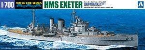 英国海軍重巡洋艦 エクセタ- (プラモデル)