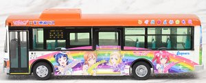 The All Japan Bus Collection 80 [JH032] Tokai Bus Orange Shuttle Love Live! Sunshine!! Wrapping Bus #2 (Model Train)