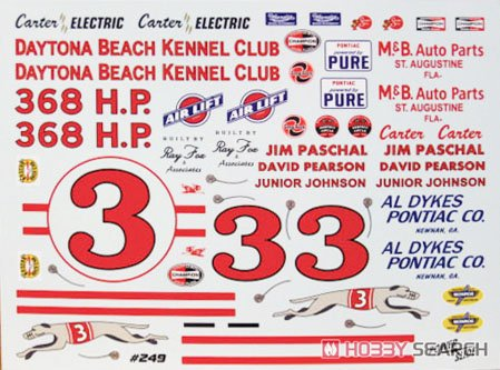 Nascar Pontiac Ventura 3 Daytona Beach Kennel Club Decal Item Picture1