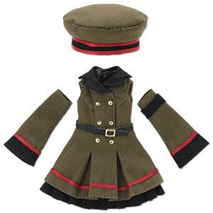 Military One Piece Set (Khaki) (Fashion Doll)