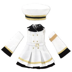 Military One Piece Set (White x Black) (Fashion Doll)