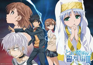 A Certain Magical Index A3 Clear Poster (5 Character) (Anime Toy)