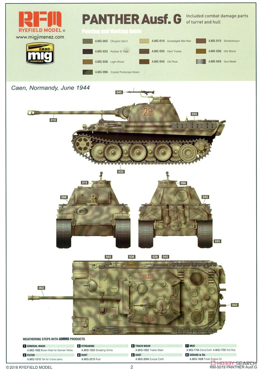 Panther Ausf.G Early/Late (Plastic model) Color1
