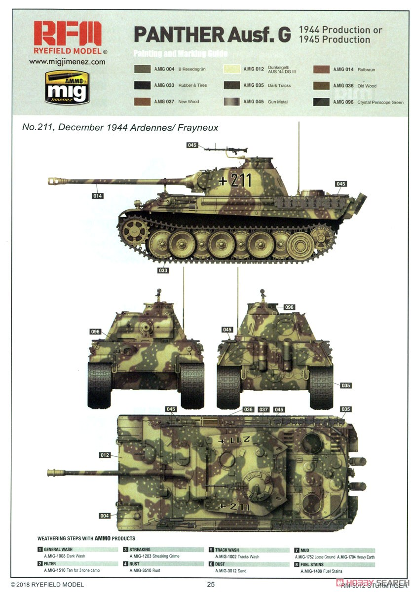 Panther Ausf.G Early/Late (Plastic model) Color2