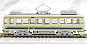 1/80(HO) Toden Arakawa Line Series 7000 Air-conditioned Car White Green 7008 Display Model (Model Train)