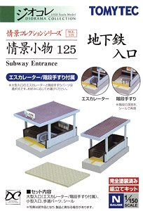 Visual Scene Accessory 125 Subway Entrance (Model Train)
