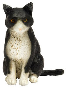 Japanese Cats Bicolor Cat (Sitting) (Fashion Doll)