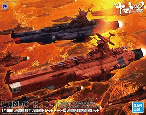 U.N.C.F.D-1 Mars Absolute Defense Line Set (1/1000) (Plastic model)