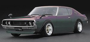 Nissan Skyline 2000 GT-R (KPGC110) Metallic Purple/Green (宮沢模型流通限定) (ミニカー)