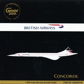 Gemini Jets G2BAW744 British Airways Concorde Landor G-BOAA Diecast 1//200 Model
