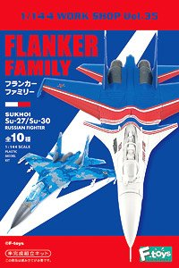 Sukhoi Su-27/Su-30 Flanker Family Box (Set of 10) (Plastic model)