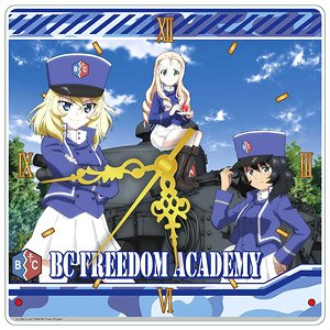 Girls und Panzer das Finale [Especially Illustrated] (BC Freedom High School) Acrylic Wall Clock (Anime Toy)