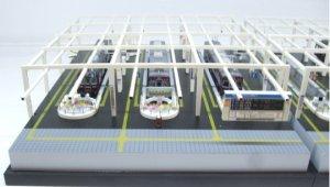 new arrival dcaec 1b5e4 Completed Diorama Hankyu Umeda Station (Kobe Main Line, Track No.7~9